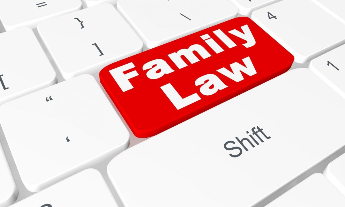 Family law concept keyboard used by a Clinton Township family law lawyer