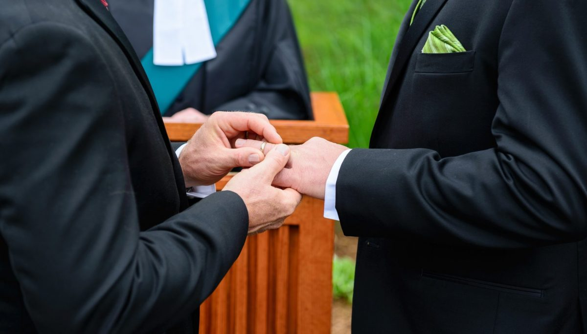 same-sex wedding as viewed by a Clinton Township same-sex divorce attorney