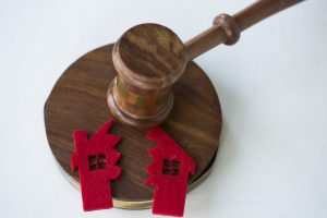 divided house and divorce concept for a divorce attorney washington township