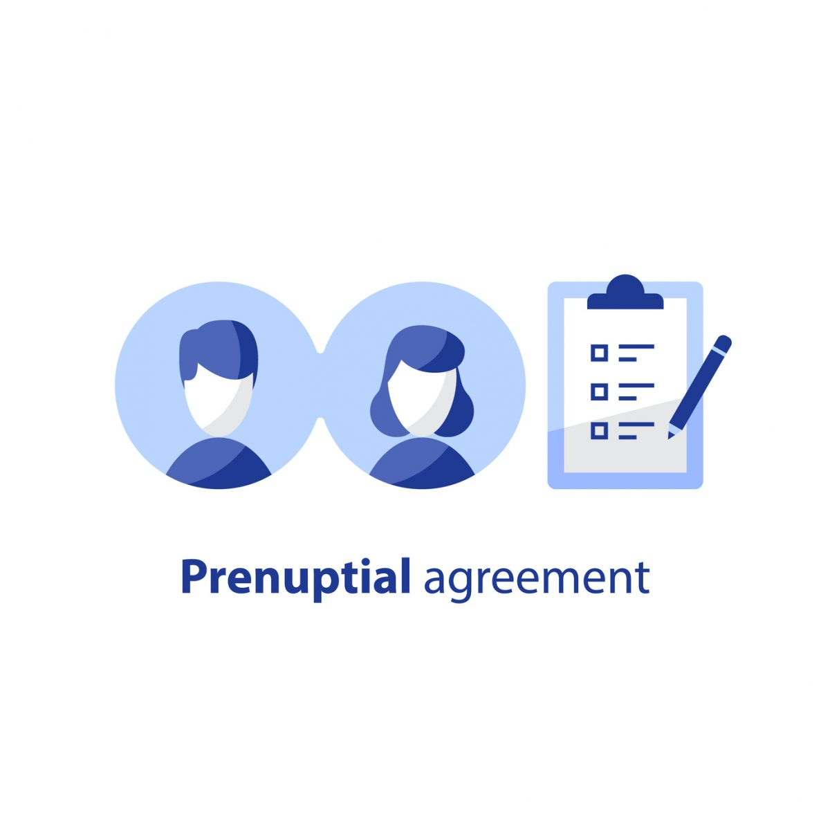 Prenuptial agreement graphic to symbolize how our Michigan Prenuptial Agreement Attorney can help couples.