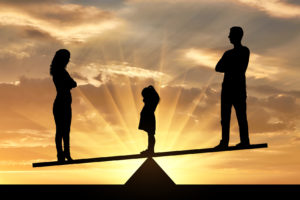 concept of divorce and division of child custody, for legal help with parenting time talk to a skilled Bloomfield Hills Family Law Attorney.