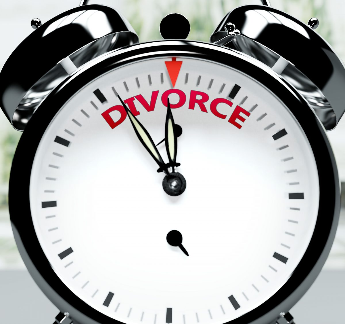 A clock symbolizing time for divorce, to begin the divorce process meet with Royal Oak Divorce Law Firm.