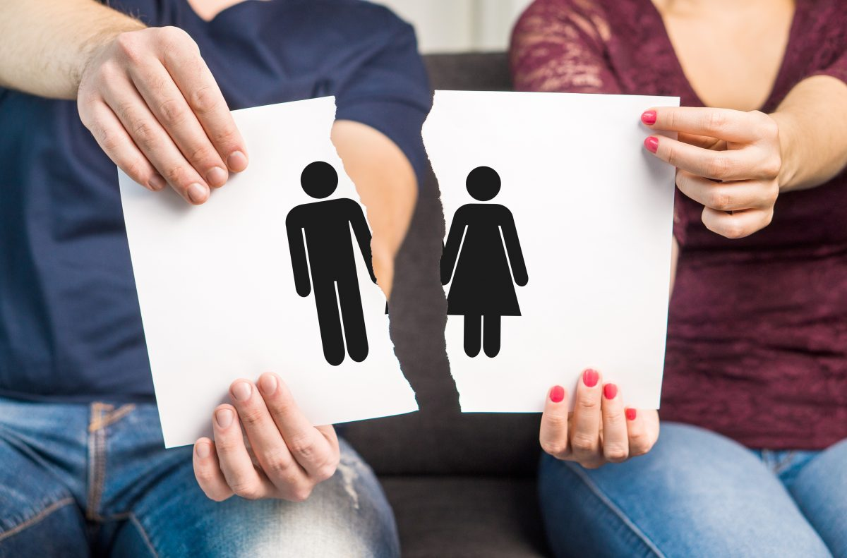A couple breaking up concept, the Clinton Township family lawyer is prepared to handle your no-fault divorce case.